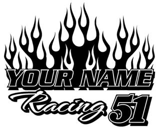 Personalized Racing 2 Decal Sticker