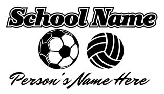 Personalized Soccer-Volleyball Decal Sticker