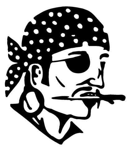 Pirate 3 decal sticker