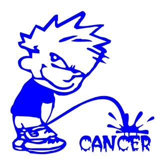 Piss On Cancer Decal Sticker