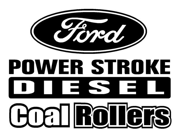 Power stroke coal rollers 3 decal sticker