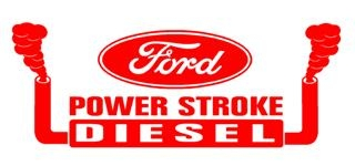 Power Stroke with Stacks Decal Sticker
