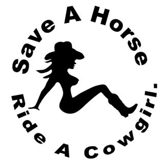 Save A Horse Ride A Cowgirl Decal Sticker