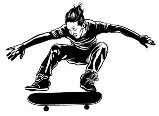 Skateboarder v2 Decal Sticker