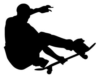 Skateboarder Silhouette v6 Decal Sticker