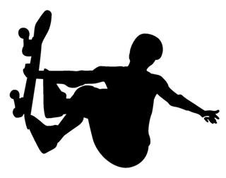 Skateboarder Silhouette v7 Decal Sticker