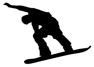 Snowboard Silhouette v5 Decal Sticker