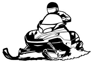 Snowmobile v2 Decal Sticker