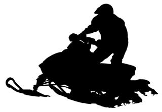 Snowmobile Silhouette Decal Sticker