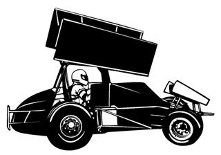 Sprint Car v3 Decal Sticker