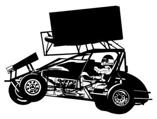 Sprint Car Wheelie v2 Decal Sticker