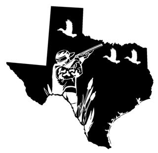 Texas Duck Hunting Decal Sticker