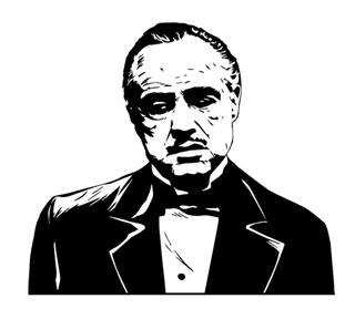 The Godfather Decal Sticker