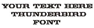 Thunderbird Font Decal Sticker