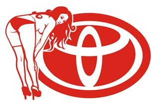 Toyota Girl v7 Decal Sticker