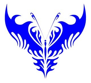 Tribal Butterfly v10 Decal Sticker