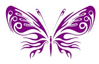 Tribal Butterfly v12 Decal Sticker