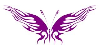 Tribal Butterfly v24 Decal Sticker