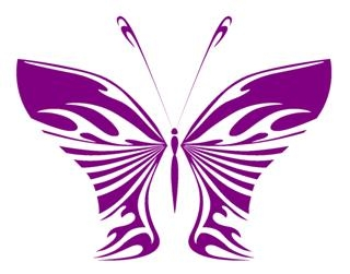 Tribal Butterfly v28 Decal Sticker