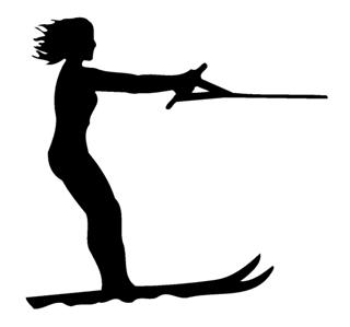 Waterskiing 3 Decal Sticker