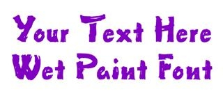 Wet Paint Decal Sticker