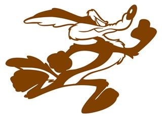 Wile E Coyote v4 Decal Sticker