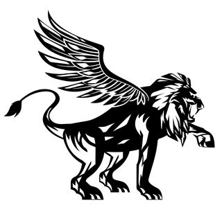 Winged Lion v2 Decal Sticker