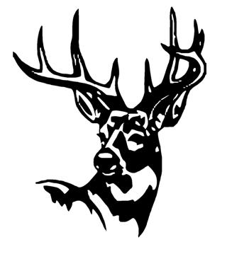 stickthisgraphics on camo deer head clip art